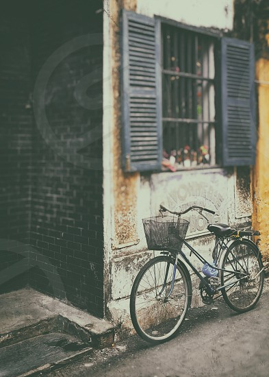 bicycle in the street of Hoi An Vietnam photo