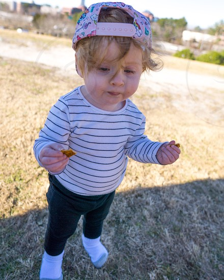 Marley cracker food snacking toddler Virginia  niece  photo