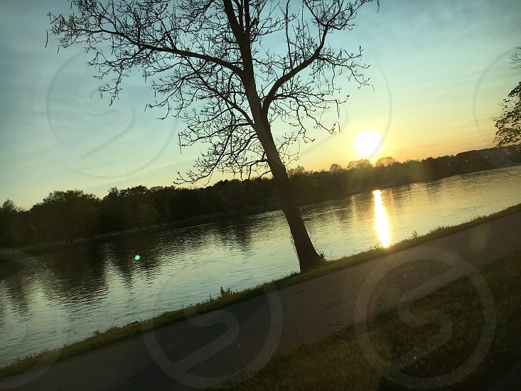 Water reflection beautiful sun photo