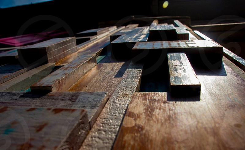 brown wooden board photo