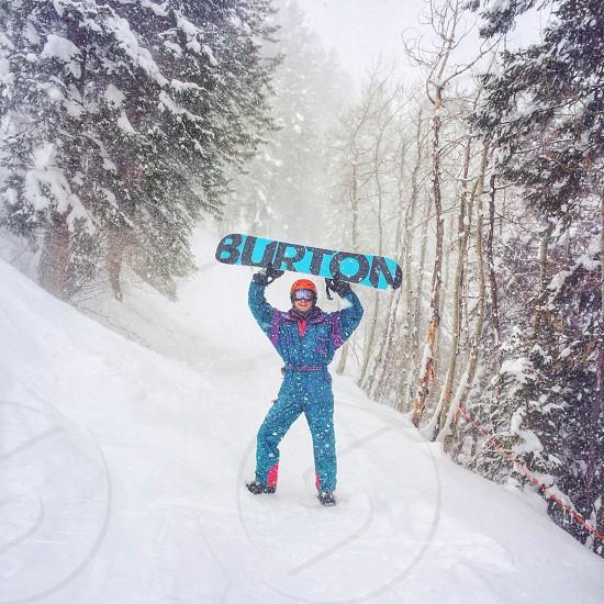 snowboard burton snow winter ride photo