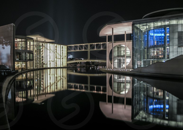 Bundestag in Berlin on a spree reflection photo