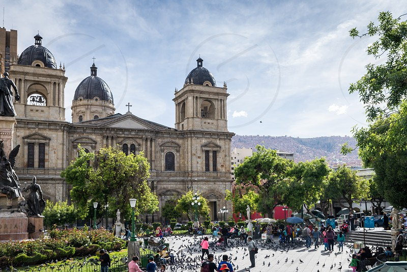 Plaza Murillo La Paz central square place of social aggregation of the city. Bolivia photo