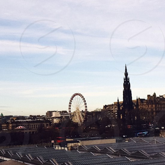 Edinburgh Christmas skyline photo