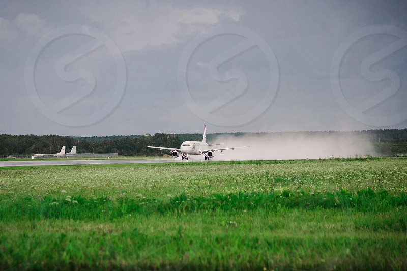 Plane airplane flight take off airport flying aviation transportation transport photo