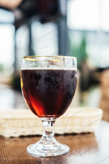 wine short stem glass photo
