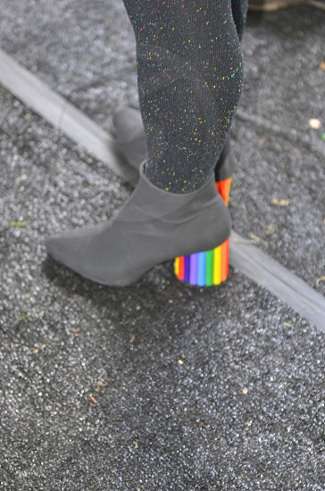 Rainbow shoes  photo