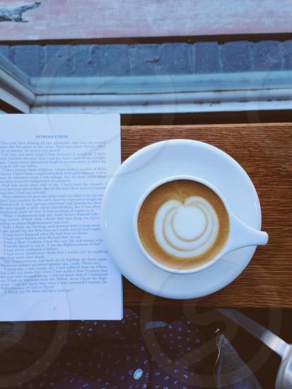 A book & a cappuccino  photo