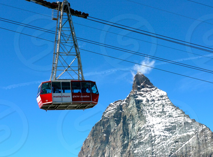 Matterhorn Glacier Paradise. Switzerland. Cable Car. Mountain.  photo