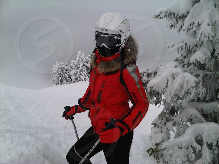 Skiing skier snow photo