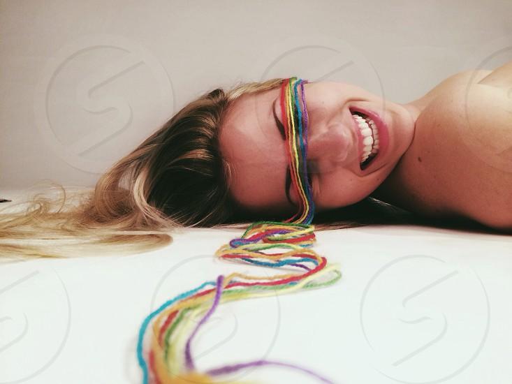 multicolored threads photo