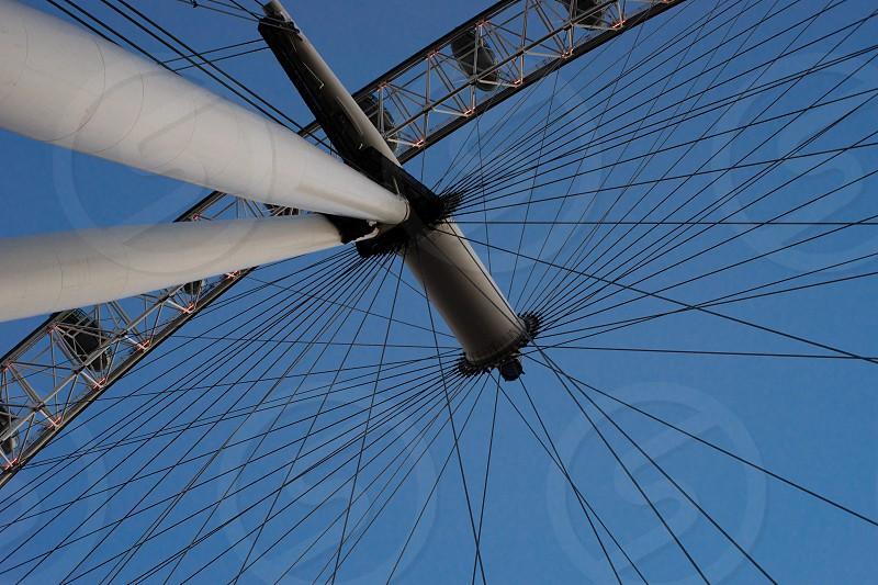 Ferris wheel London eye composition abstract photo
