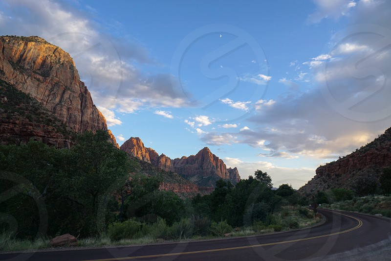 Road trip; Zion National Park; mountains; scenic; views photo