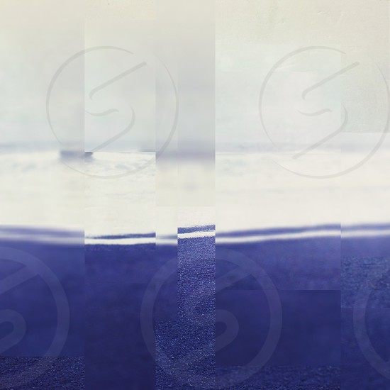 blue and white pixelated photography photo