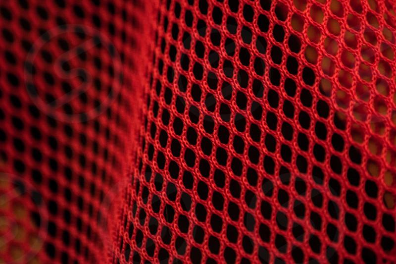 Red Mesh - artistic depth mesh net Red photo