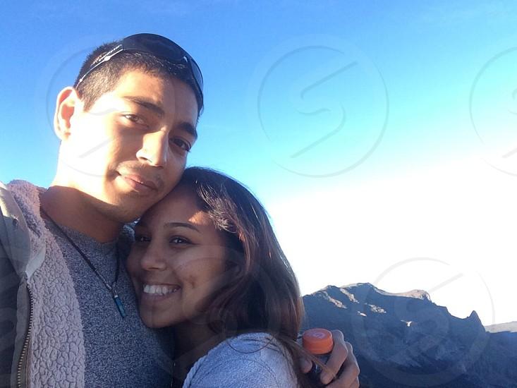 My wife and I at the summit of Haleakala National Park photo
