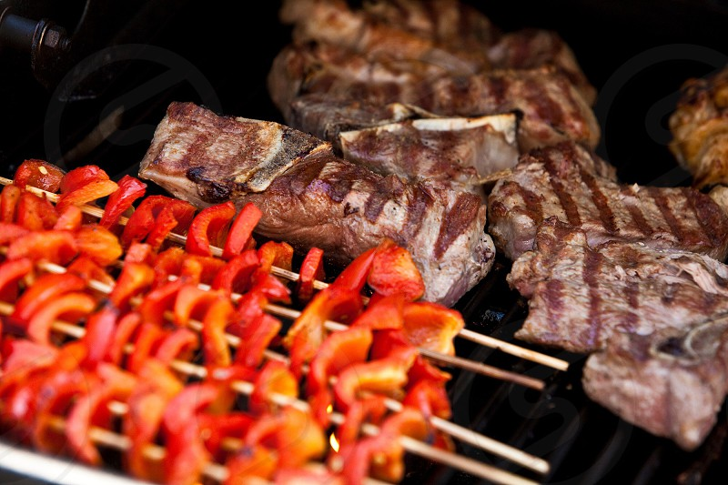 beef on grill  photo