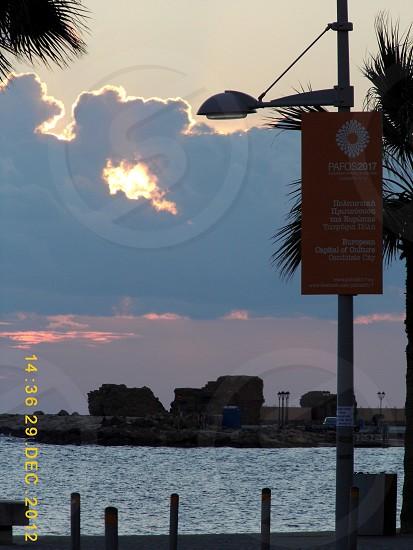 Cyprus gorgeous sunset photo