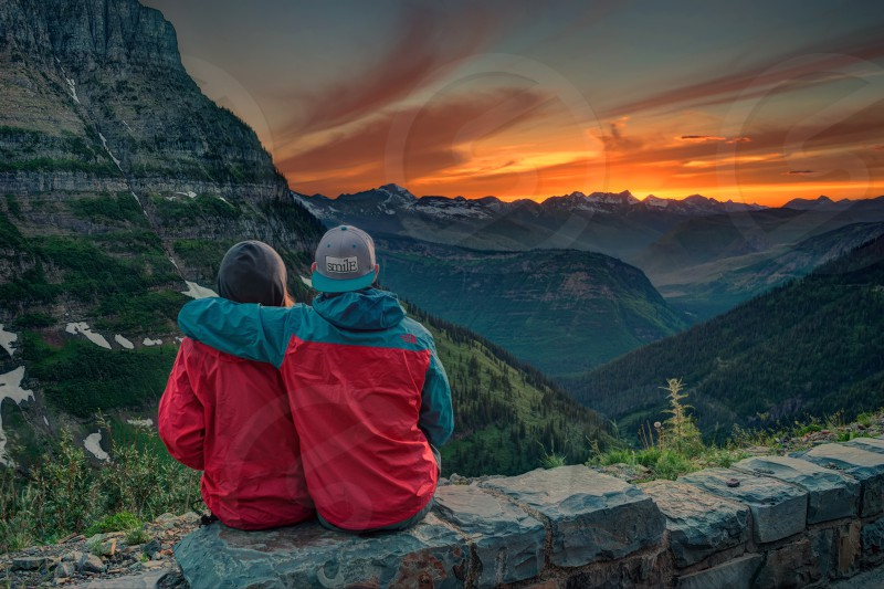 A short stop along the long and winding Going-to-the-sun road in Glacier National Park yields an unforgettable memory. photo