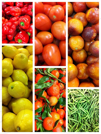 Assorted fruits and veggies photo