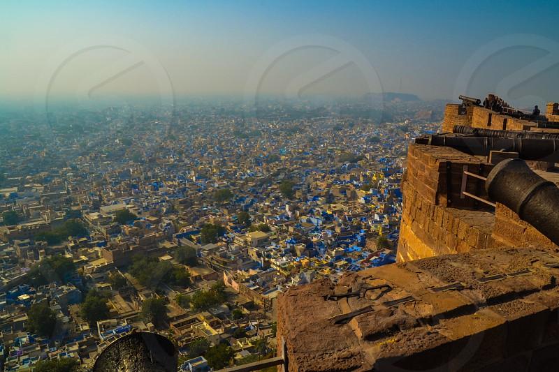 Overlooking Blue City (Jodhpur India) photo