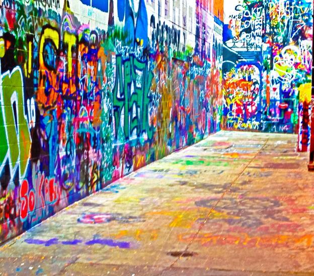 multicolored graffiti wall paint photo