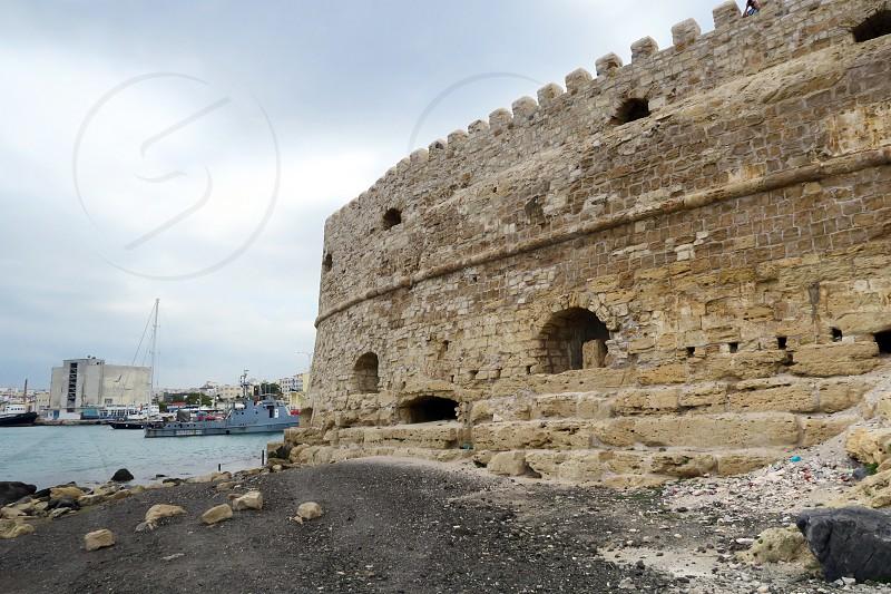 Iraklion/ Heraklion (Crete) with its Koules Fortress. photo