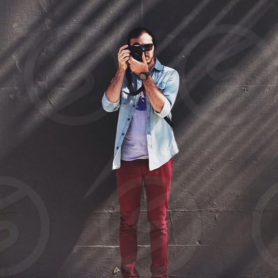 men's red pants photo