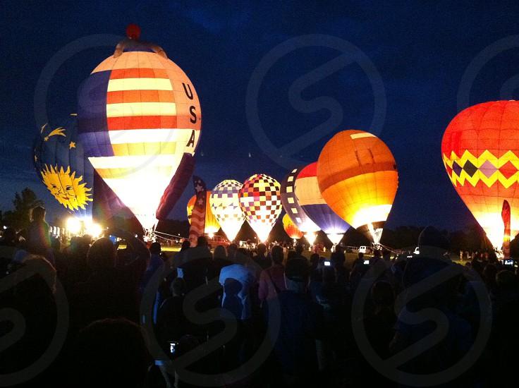 Flag city balloon festival photo