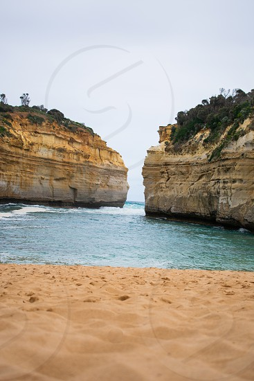 Stunning view of the Loch Ard Gorge the greatest day trip in Melbourne. photo