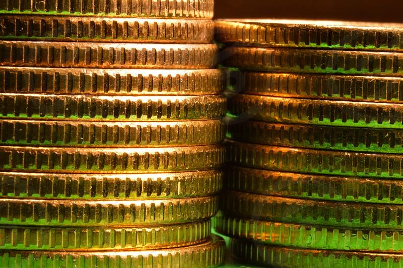 Macro photo of coins photo