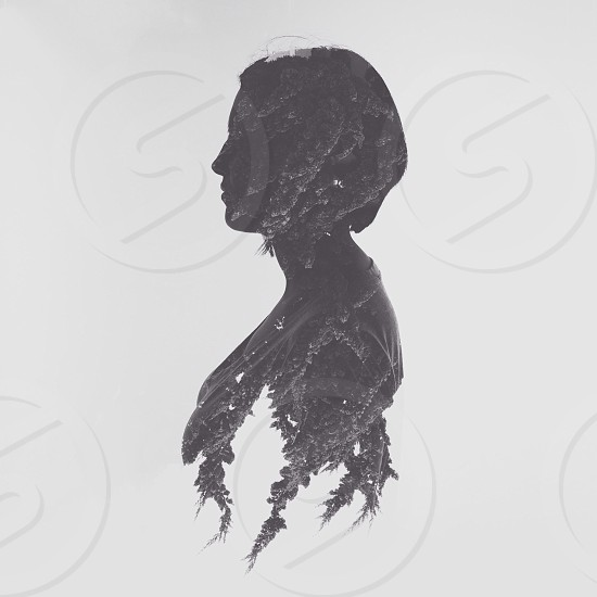 woman silhouette drawing  photo
