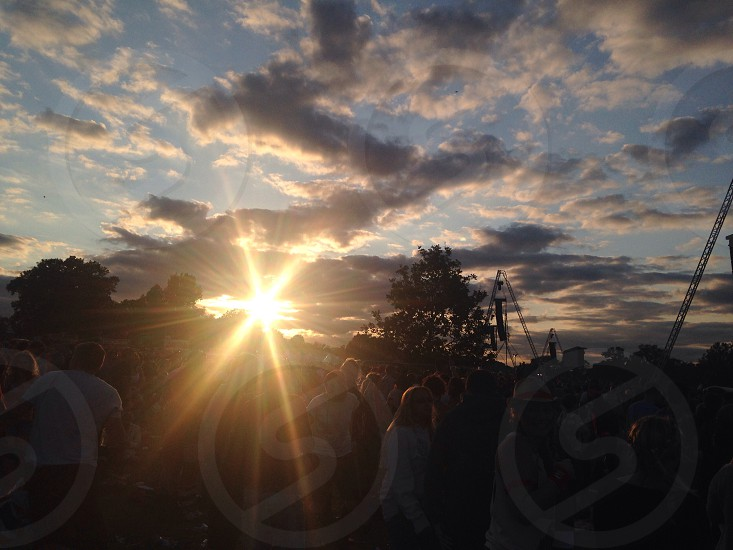 Festival sunset photo