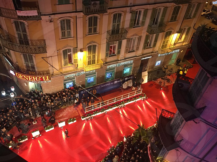 people beside red carpet photo