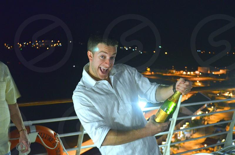 Cruise ship bubbly photo