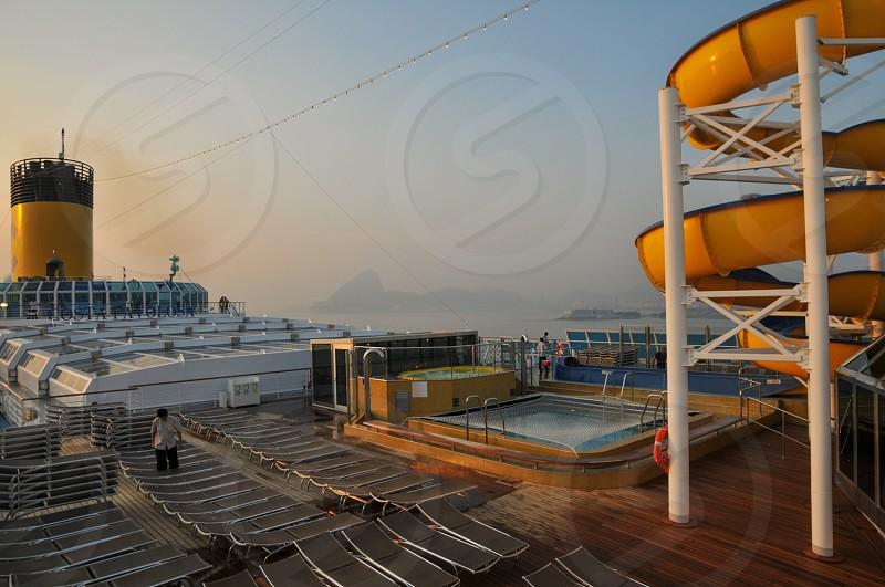 cruise ship rio de janeiro sea pool photo