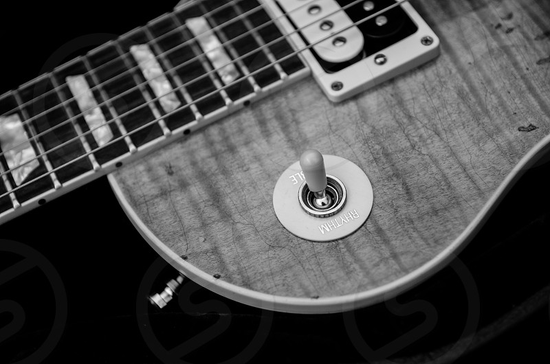 guitar electric guitar instruments rock n roll vintage classic music b&w photo