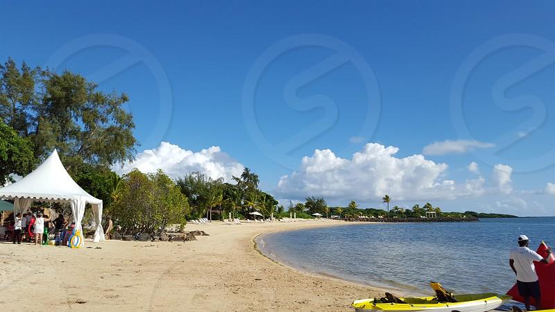 sea sun sand photo
