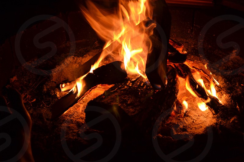 photo of bonfire photo