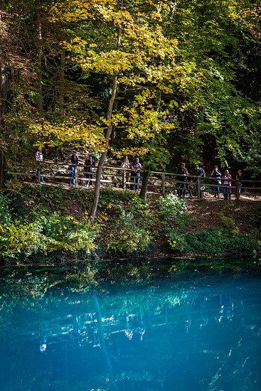 The Blautopf lake in south germany photo
