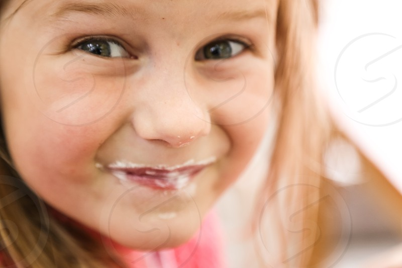 Smiling cute little girl photo