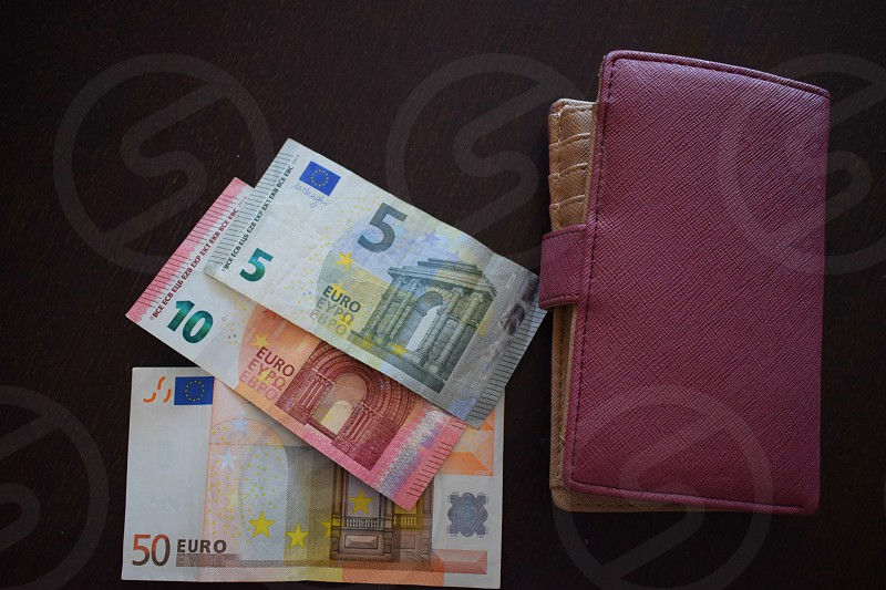 euro bill money cash pay finance business purse  photo