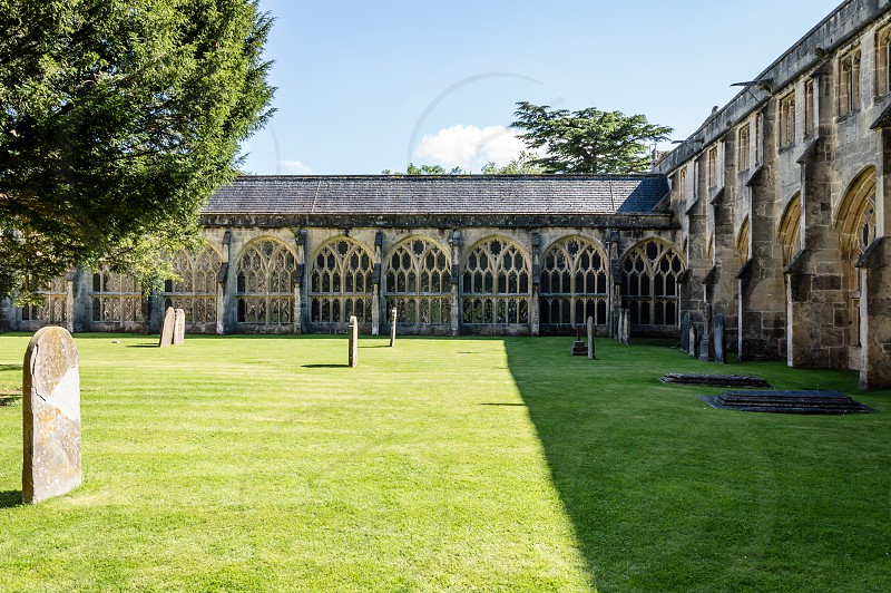 Cloister of Cathedral of Wells England photo