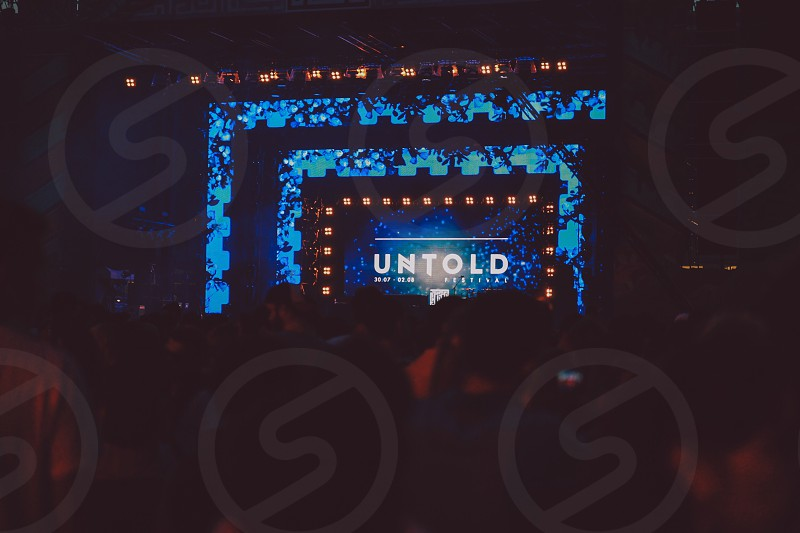 Untold music festival concertsummer lights photo