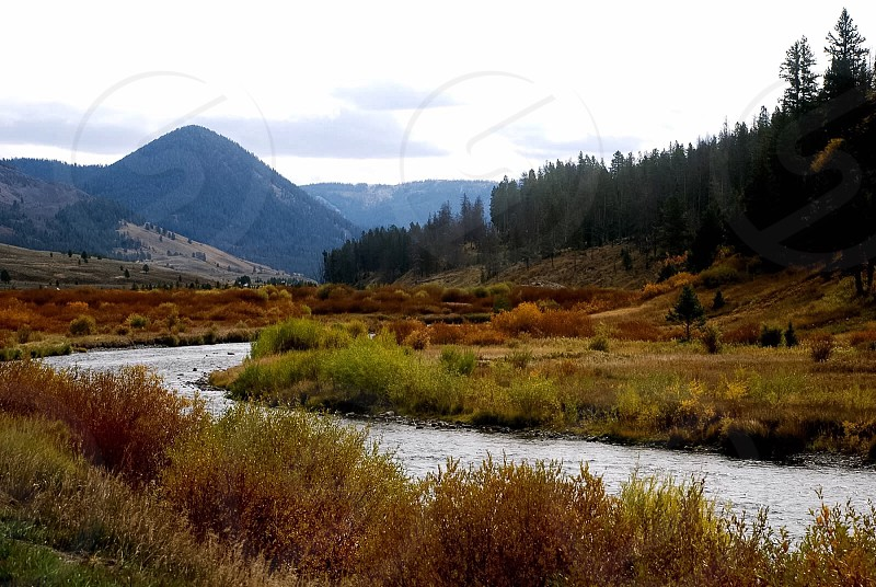 Location:  Wild West; fall; river; scenic views photo