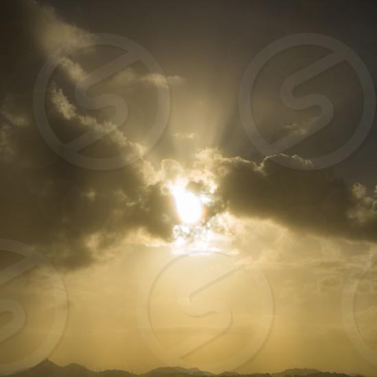 sunset in sephia photography photo