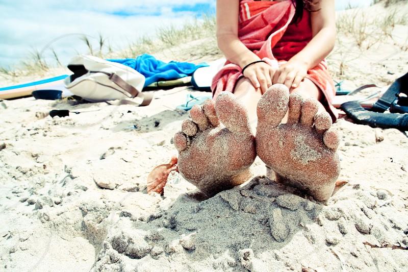Sandy feet photo