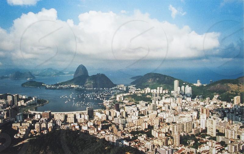 Rio de Janeiro Brazil Pão de Açucarbaia de GuanabaraAzul photo
