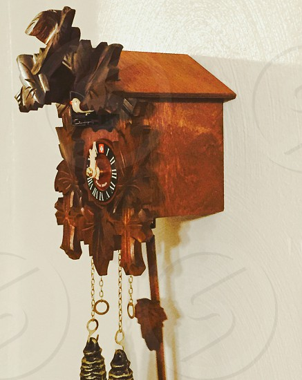 brown wooden cuckoo clock photo
