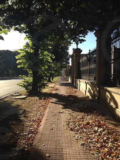 Sunny afternoon in Buenos Aires. On the right side Aguas Argentinas (cleaning water plants) - Av. Figueroa Alcorta.  photo
